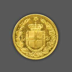 20 Liras GOLD - 1881 back